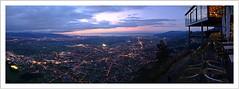night falls over the rhine valley (Norbert Kaiser) Tags: alpenrheintal rheintal karren dornbirn aussicht panorama blauestunde bluehour nightearth atnight earthnight bodensee