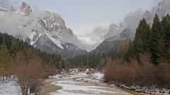 Canali valley (Dolomites) (ab.130722jvkz) Tags: italy trentino alps easternalps dolomites palagroup winter mountains snowfall rivers valleys