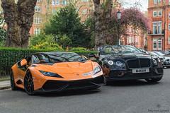 That Huracan (Beyond Speed) Tags: lamborghini huracan mansory bentley continental gtc supercar supercars car cars carspotting nikon v10 orange tuning automotive automobili london knightsbridge combo