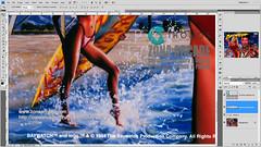 Baywatch Translite. Restored Mikonos3 (Mikonos - Zona Arcade) Tags: baywatch pinball vigilantes de la playa translite sega zona arcade mikonos artwork restored scan