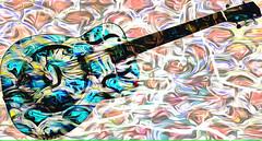 EDN0904 FOTOMURAL HOGAR GUITARRA SIMBOLO ROCK (Galeria Zullian & Trompiz) Tags: guitar guitarist rock symbol fashion music abstracto abstract abstractart