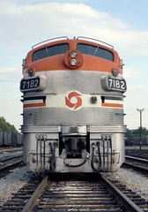 The Face Of An F (DJ Witty) Tags: passenger emd railroad rr train locomotive dieselelectric freight passengertrain commuter f9ph f7