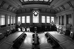Hoboken Terminal (@harryshuldman) Tags: hoboken terminal path nj transit waiting room hudson county new jersey canon dslr 815mm fisheye