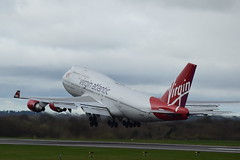 G-VROY BOEING 747-400 (douglasbuick) Tags: aircraft b747400 boeing gvroy takeoff virgin atlantic airways jet liner ringway airport manchester aviation flickr airliner airlines plane nikon d3300