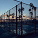 chainlink sunset. venice beach, ca. 2017.