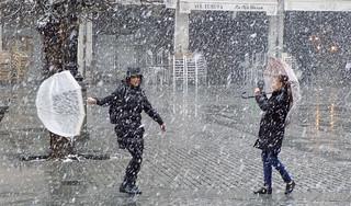 Bailando con la nieve