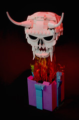 Happy Birthday (Klikstyle) Tags: lego birthday skull flames fire present gift