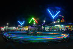 Scream if you want to go faster (Derek Robison) Tags: cambodia siemreap night colour longexposure funfair