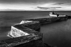 St Monan's Breakwater (MatMat Brown) Tags: 10stop longexposure stmonans blackandwhite breakwater harbour mono monochrome pier scotland seascape slowshutter sunrise