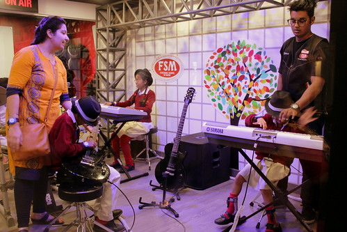 KidZania Tour for Kids with disabilities:Our little rockstars, got a chance to be in a band and play musical instruments.