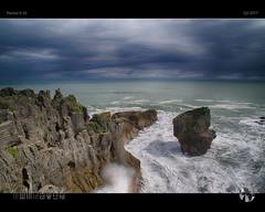 Curve of the Earth (tomraven) Tags: rocks globe sea sky surf earth tomraven punakaiki pancakerocks westcoast coast coastal seascape landscape aravenimage q22017 prntax k50
