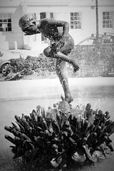 Mt Vernon ~ fountain/statue (karma (Karen)) Tags: baltimore maryland mtvernon fountains statues monochrome bw sliderssunday hss cmwd