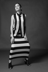 Black and White Editorial (AndrePatrocinio) Tags: white black branco model stripes preto modelo riscas brunette morena