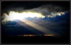 Light Break - Strathmore (EXPLORE) (ronramstew) Tags: light sky clouds landscape scotland angus forfar strathmore beams canonpowershots70 mygearandme mygearandmepremium