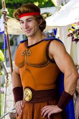 Hercules (Banana Man is my Spirit Animal) Tags: muscles disneyland character disney hero strong hercules herc