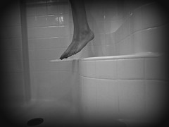 Sorrow 042-edit (Madison Kali) Tags: portrait blackandwhite feet self shower suicide nails awareness sorrow