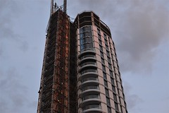2013-06-17: Different Levels Different State (psyxjaw) Tags: sunset red sky building london towers aldgate londonist