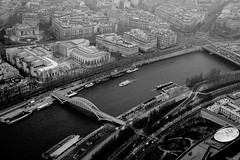 Paris (ravalli1) Tags: city travel blackandwhite paris france architecture buildings french toureiffel