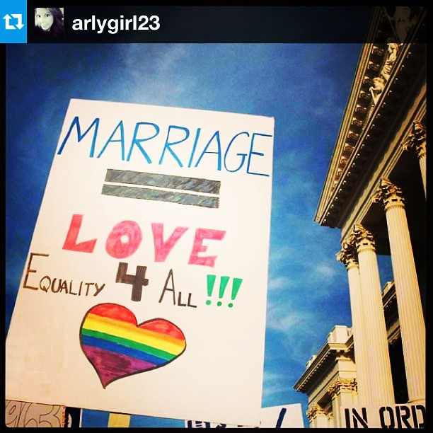 LOVE WINS!!!! Been crying tears of joy since waking up & hurriedly grabbing my phone for the news.  #Repost from @arlygirl23 #SCOTUS #DOMA #NOH8
