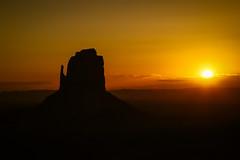Monument Valley Sunrise (Jeremy Duguid) Tags: travel arizona orange sun southwest west monument yellow sunrise canon dawn utah ut south az jeremy valley mesa mittens duguid pwlandscape 5dmkiii jeremyduguid
