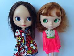 Quirky girls! (2tMargarett) Tags: blythe bl vintageskipper buddingbeauty wingsinflight uploaded:by=flickrmobile flickriosapp:filter=nofilter