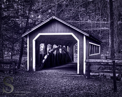 Southford covered bridge- (Singing With Light) Tags: bridge november photography waterfall pentax ct covered 2012 k5 jjp southbury southfordfalls singingwithlight