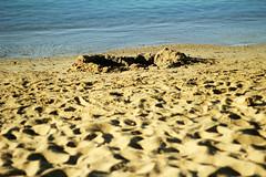 sand (Katrinitsa) Tags: blue sea summer beach canon landscape island sand mediterranean heart bokeh sandy aegean greece greekislands paros cyclades ef50mm pisolivadi pissolivadi