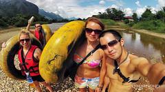 DAY 78 // Vang Vieng / Tubing (VINJABOND.COM) Tags: travel river asia southeastasia backpacking laos tubing vangvieng backpackers worldtravel rivertubing vagabonding sixvaser