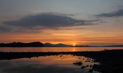 Sunset, Fiscavaig Bay, Isle of Skye (Pog's pix) Tags: sunset skye clouds evening scotland isleofskye coastal rockpool fiscavaig fiscavaigbay