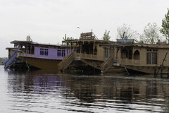 Houseboats in a row in the Dal Lake in Srinagar (Ashish A) Tags: india lake reflection water beauty canon landscape scenery ripple houseboat ripples kashmir woodenboat canondslr digitalslr houseboats dallake jammuandkashmir lakescape reflectioninwater beautifulscene ripplesinwater canon550d canont2i dallakeinsrinagar lakeinsrinagar