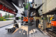 Teatro Nacional/Casa en Construcción (octaviocarlock) Tags: street summer abstract green art japan mexico teatro star tokyo construction theatre demolition urbanexploration kabuki japon hitachi tokio urbex