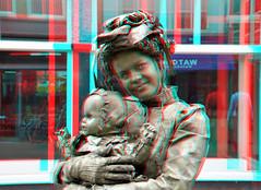 Living Statues Dordrecht 3D (wim hoppenbrouwers) Tags: 3d anaglyph stereo dordrecht voorstraat livingstatues redcyan levendebeelden stereopicture levendebeeldendordrecht livingstatuesdordrecht