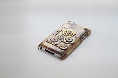 Coque Itouch Steampunk (Vadu Amka) Tags: apple vintage handmade painted creation vieux 4g coque