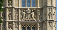 Palace of Westminster, detail of crest, south façade