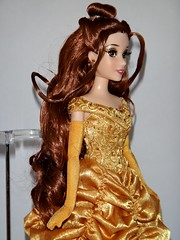 Belle and the Beast Doll Set - Disney Fairytale Designer Collection - US Disney Store Purchase - First Look - Deboxed - Belle on Display Stand - Midrange Left Front View (drj1828) Tags: us belle beast purchase beautyandthebeast disneystore firstlook dollset deboxed disneyfairytaledesignercollection