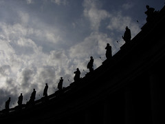 The watchers above (shaggy359) Tags: above city italy cloud vatican rome silhouette st statue clouds square san silhouettes statues ten piazza curve peters bernini pietro