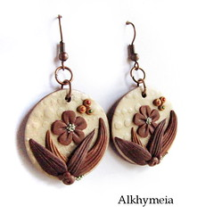 Hidden Nature S23 (Alkhymeia) Tags: wood flowers original autumn flower art fall nature earings leaves foglie spiral leaf woods hand natural artistic blossom handmade spirals unique ooak magic inspired jewelry bijoux jewellery falling polymerclay fimo fairy fantasy clay wicked rest swirl veins foglia bud lovely elegant delicate autunno autumnal enchanted whimsical sculpted wiccan elvish polymer premo arcilla argilla orecchini polimer sintetica polimerica arrings werable alkhymeia alkimeia alkhimeia