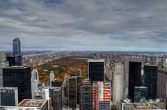 Top of the rock (Raffaele Tisiotto) Tags: newyorkcity trip panorama newyork rock holidays top centralpark manhattan hdr topoftherock rockfellercenter