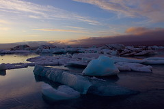 Iceberg lagoon - Jkulsrln, Iceland (rossisergio23) Tags: blue sunset sea sky ice beautiful clouds landscape island iceland amazing tramonto lagoon iceberg laguna islanda