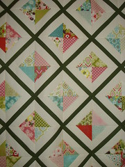 Charm Pack Lattice Quilt (MoonlitStitches) Tags: baby quilt moda charm pack patchwork kona