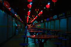End of the Night (Explored) (OzGFK) Tags: food night lights singapore asia eating empty maxwell lantern supper nikkor hawkercentre hawkercenter tanjongpagar nikond800