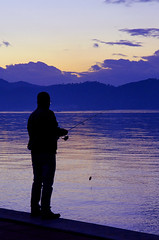 Gone Fishing (D0914) - The Colour Purple (C-Dals) Tags: sea sky silhouette clouds fishing nikon mediterranean purple 1755mmf28g nikkor fethiye odc d5100