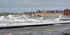 High Tide, Troon, 03/01/14 (Brian Digital) Tags: sea storm beach scotland high waves tide rough breakers ayr surge prestwick troon ayrshire