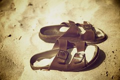 It Ain't the Same (popong | pilipinas) Tags: brown beach sepia sand sandals tsinelas popongpilipinas aintthesame