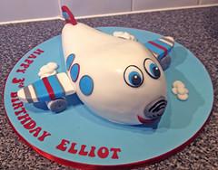 Cartoon Airplane Cake