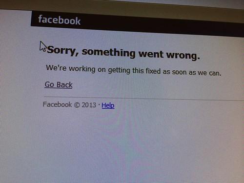 Noooooo! Not Facebook!