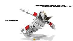 Felix Baumgartner Miniland (clmntin.E) Tags: red man digital portraits dc suits iron comic lego felix designer hard bull marvel universe mecha avengers povray ldd exo hardsuits exosuits