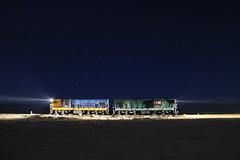 SPACE ODDITY (Guillermo Andre) Tags: chile de atacama estrellas desierto nocturnas ferrocarriles ferronor gr12u