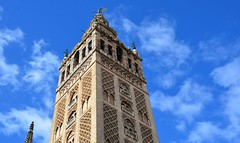 The Giralda, originally 12th century Almohad minaret (12) (Prof. Mortel) Tags: spain minaret seville andalucia giralda almohad