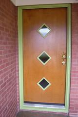 Our new front door! (CollectoratorOne) Tags: ranch door 1950s 1960s starburst midcentury crestviewdoors